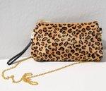 Velvet chain bag leopard