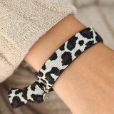 Woven bracelet leopard