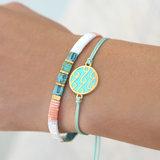 Waves round turquoise bracelet