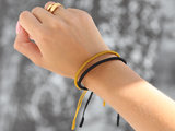 Buddhist bracelet yellow