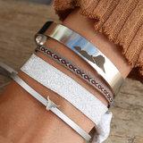 Armband Aztec grey_