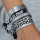 Motivation bracelet silver