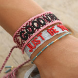 Good vibes only armbandje wine red_