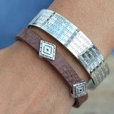 Indian tribe bracelet brown (echt leer)_