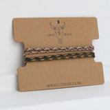 Bracelet set surf culture army