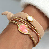Velvet armbandje charm crème