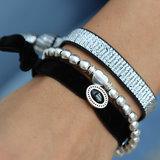 Velvet bracelet charm black