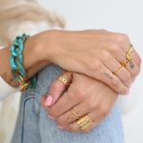 Armband Azur marble chain gold