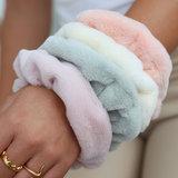 Scrunchie teddy baby pink_