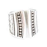 Maya dots silver ring