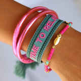 Geweven armband time to relax_