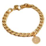 Armband chain initial goud_