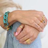 Ring chain goud_