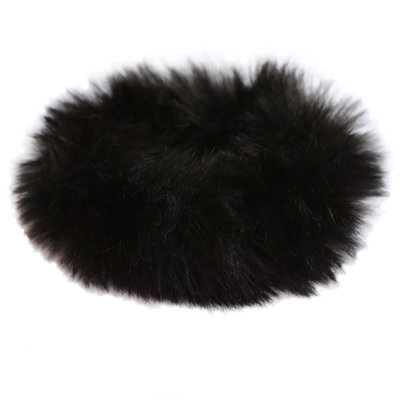 Faux fur scrunchie black