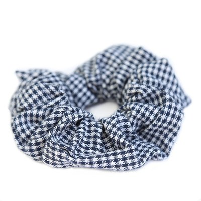 Scrunchie herringbone dark navy