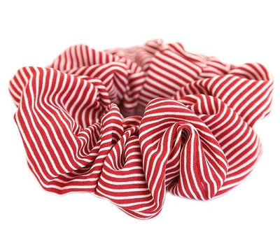 Scrunchie stripe red