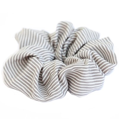 Scrunchie stripe grey