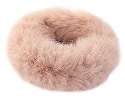 Faux fur scrunchie rosé