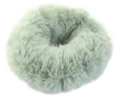 Faux fur scrunchie mint