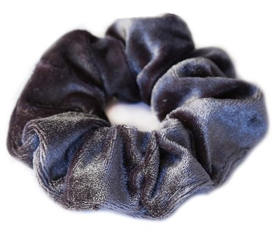 Velvet scrunchie Grey/blue