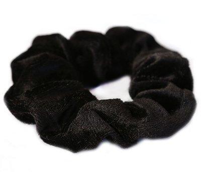 Velvet scrunchie zwart
