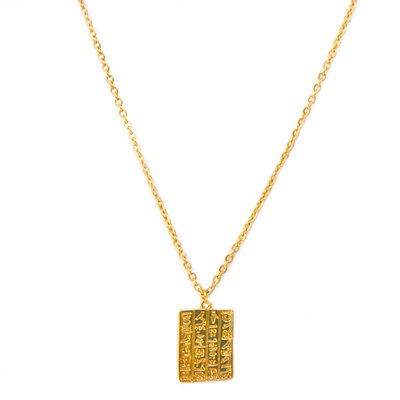 Ketting Secret script gold