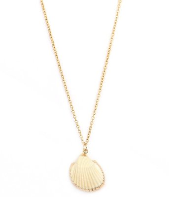 Ketting Shell gold edges
