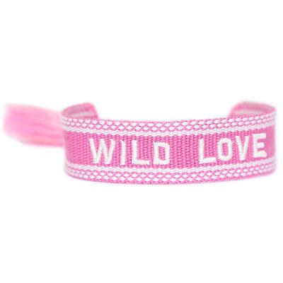 Geweven armbandje Wild love