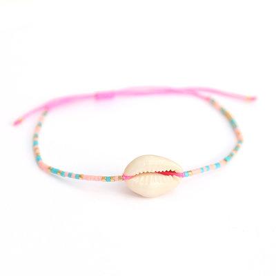 Pink shell miyuki armbandje