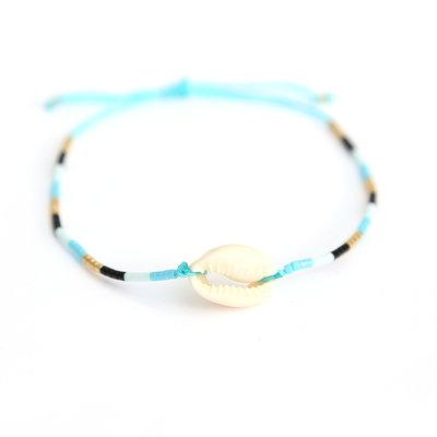 Blue shell miyuki armbandje