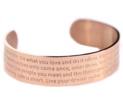 Motivation armband rosé