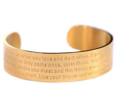 Motivation armband gold