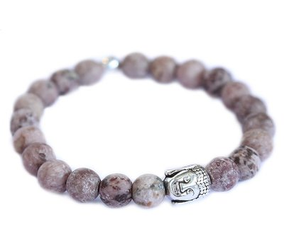 Buddha armband Brown gemstone