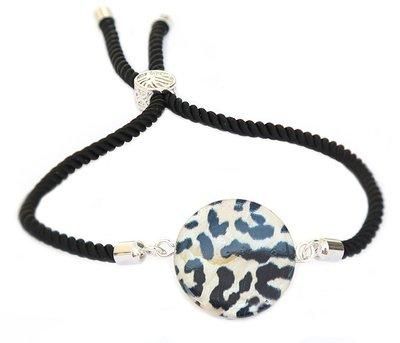 Armband round Leopard