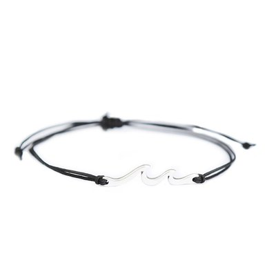 Armband Waves black silver