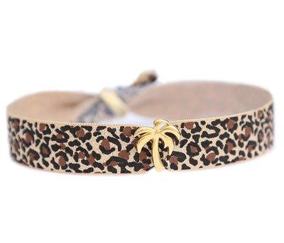 Enkelbandje Palm leopard