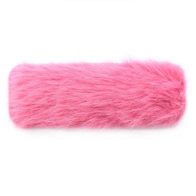 Haarclip fluffy pink