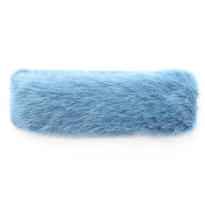 Haarclip fluffy blue