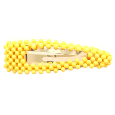 Haarclip bubble yellow