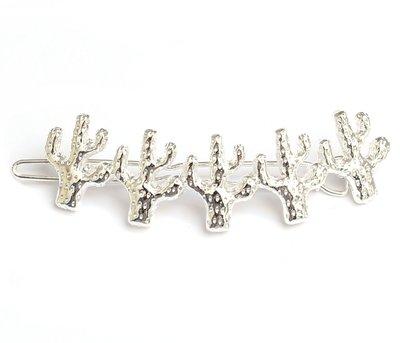Cactus haarclip - silver