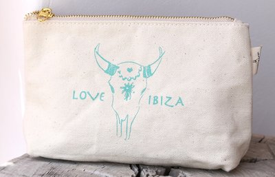 Make-up tasje Love Ibiza Turquoise