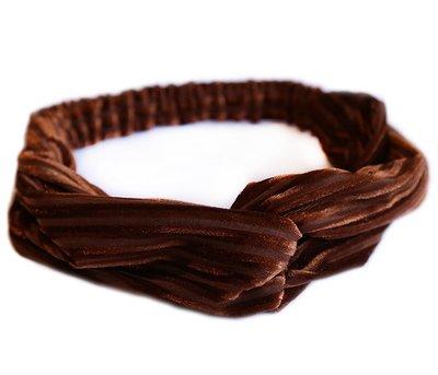 Velvet haarband - Brown