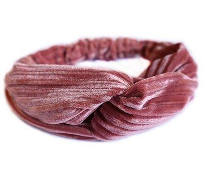 Velvet haarband - Rosé