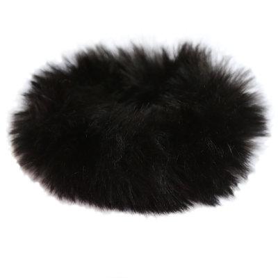 Faux fur scrunchie black