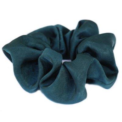 Scrunchie zijde green/blue