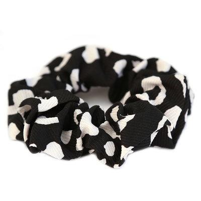 Scrunchie black/white leo