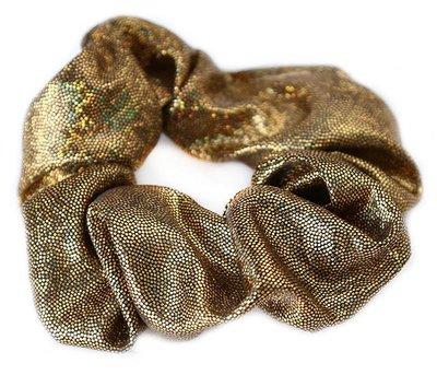 Shimmer scrunchie metallic bronze