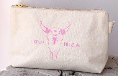 Make-up tasje Love Ibiza Pink