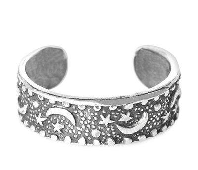 Midi pink ring Moon (echt zilver)