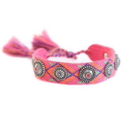 Woven festival bracelet